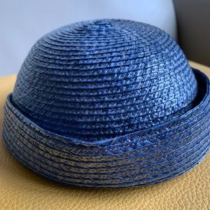 Karl Lagerfeld straw hat, made in France,circa80´s